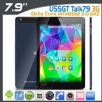 In stock 2014 Cube U55GT Talk79 3G Phone Tablet PC 7.85 Inch IPS MTK8392 2.0 GHZ Octa Core 2048X1536 DualCamera 2GB/16GB