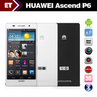 Original  Huawei Ascend P6 4.7inch android phone K3V2E quad core 1.5GHz 8.0MP WCDMA WIFI Bluetooth GPS