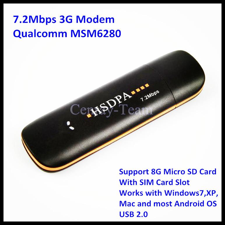 Hot!!! 7.2Mbps Unlocked 3G Dongle HSDPA Wireless MODEM Support Most Android Tablet PC Allwinner A13 PK Huawei E1750 CDT-802(China (Mainland))