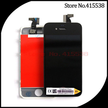 20pcs/lot DHL Free Shipping Glass Touch Screen Digitizer & LCD Assembly Replacement for iphone 4 mixed color