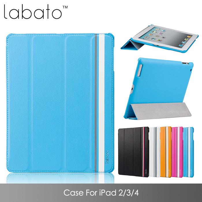 Cas pour les accessoires ipad pu cuir mince pour ipad smart cover magnétique 4 3 2 tablette. cas reposer 5 couleurs disponibles livraison gratuite