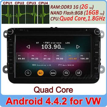 "8"" Quad Core Android 4.4.2 Car PC DVD GPS For Volkswagen VW Passat CC Golf Jetta Polo Tiguan Touran Bora caddy Skoda Radio Navi"