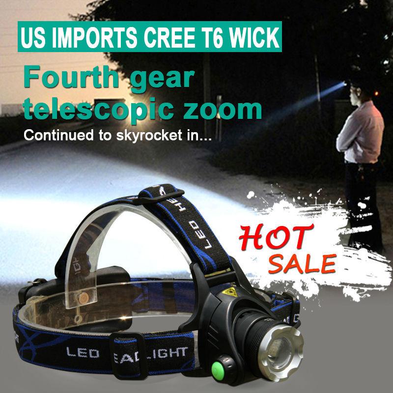 Promotion Headlights Outdoor Portable Farol Lighting led headlamps luz da cabeca CREE T6 head lamp 800 Lumen Night head lights(China (Mainland))