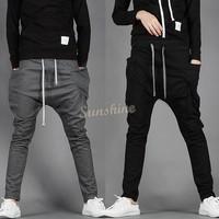 New 2015 Mens Joggers Fashion Harem Pants Trousers Hip Hop Slim Fit Sweatpants Men for Jogging Dance 3 Colors SV21 16719