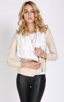 Spring Autumn Cool Stylish 2014 Hot Sell New Designers Women Coat Slim Short Leather jacket Punk Outwear black B12 SV006135