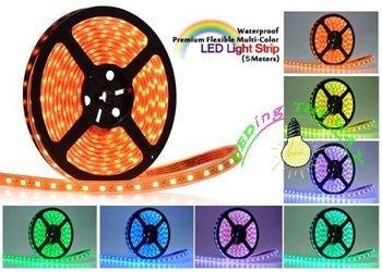 led strip 5050 RGB flexible led rope light  60led/meter 5M Waterproof IP65 14.4w/meter CN