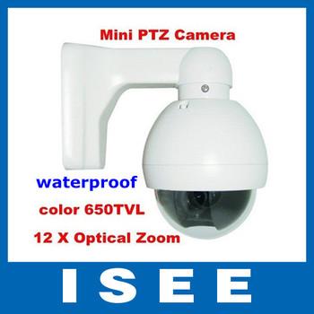 Big sale 650TVL Super HAD II Sony CCD Effio-e 12 X Optical Zoom Lens Vandalproof Mini PTZ Speed Dome CCTV camera Free Shipping