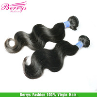 "Berrys hair product,6A Indian virgin hair Body Wave (10""-34""),2pcs/lot ,human hair weaves hot selling hair Extensions"