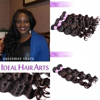 Malaysian Virgin Hair Loose Wave Ideal Hair Products 6A Unprocessed Virgin hair, Luffy Rosa  2/3/4pcs Malaysian Loose Wave