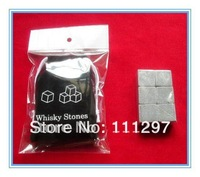 6pcs/set,Whisky stones with velvet bag whiskey rock stone Great gift +Wholesale