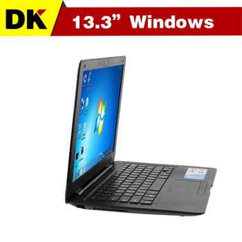 Cheap 13.3 '' windows laptop intel Atom D2500 Dual Core 2GB 250GB Webcam netbook laptops