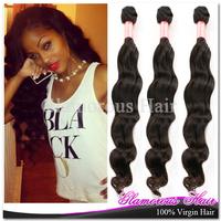 Retail 1pcs/lot  AAAAA Grade 12''-34'' 100% Virgin Brazilian Hair Weft  Natural Wave