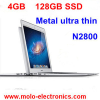 "13.3"" aluminium ultrabook notebook computer laptop PC 4GB DDR3 ram 128GB SSD intel Celeron dual core CPU webcam WIFI"