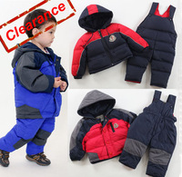 New Duck Down Jacket Children's Outerwear Suits Kids Clothes/White Duck Down Sets/Baby Wear[iso-12-8-1-A3]