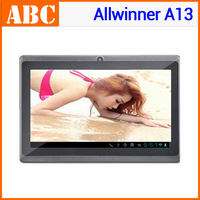 7 inch allwinner a13 tablet pc with 2G sim card solt phone call vs Ainol Tornado GSM Android 4GB ROM G-sensor dual camera