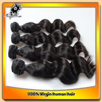 "4pcs lot 5A Peruvian virgin hair Loose wave 12""-26"" natural black unprocessed peruvian Loose wave human hair weave"