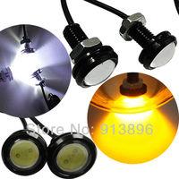 4pcs High Power  Ultra-thin CAR LED Lens Eagle Eye DRL daytime light fog bulb Tail Backup Rear Lamp Yellow red blue Color 12/24v