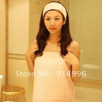 65% cotton 35% polyester  waffle style sexy bathwrap for women bathwrap