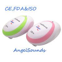 AngelSounds CE FDA Mini Fetal Doppler Pocket Ultrasound Prenatal Fetal Detector Portable Baby Heart Rate Monitor Free shipping