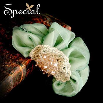 Special Summer Hair Jewelry Silk Hair Claw Free Shipping Handmade Girl Hair Clip FSM10A0105