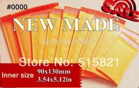 "New Made--#0000 Golden Kraft  Bubble Envelope Mailer Air Bag/  Dimension is 108mm x 130mm+40 mm(4.2""x 6.7"")  120pcs/pak"