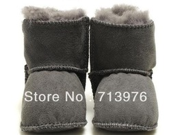 Free shipping!Australia sheepskin baby fur boots,baby soft sole/prewalker,suede infants fur snow boots/wool boots,0-18 month(China (Mainland))