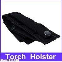 Durable Nylon Flashlight Holster/Folding Knife Pouch (Black)