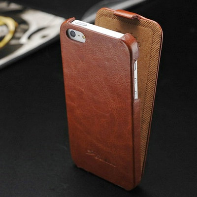 Vintage Flip PU Leather Case for iPhone 5 5S Phone Bag New 2014 with FASHION Logo Free Screen Protector(China (Mainland))