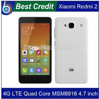 "XIAOMI Redmi 2 Hongmi 2 Red Rice 2 2S red mi 2 redrice2 4G FDD LTE MIUI 6 phone MSM8916 Quad Core 4.7""IPS OGS 8.0MP GLONASS/Eva"