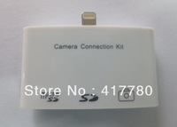 Free shipping New arrival 3 port card reader, camera connection kit, 8pin adapter for IPAD 4 IPAD MINI welcome Wholesale