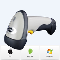 Wireless Bluetooth Laser Barcode Scanner Bar Code Reader With Memory Support Windows Android iOS iPhone iPad