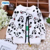 4pc/lot 2015 spring girls coat long sleeve girl cardigan Mickey shirt boy jacket kids outerwear factory wholesale PANYA JSQ08
