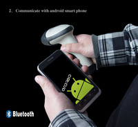 Free shipping(1 Pc)Wireless Bluetooth Laser Barcode Scanner with Adjustable Stand Holder Support Windows Android iOS iPhone iPad