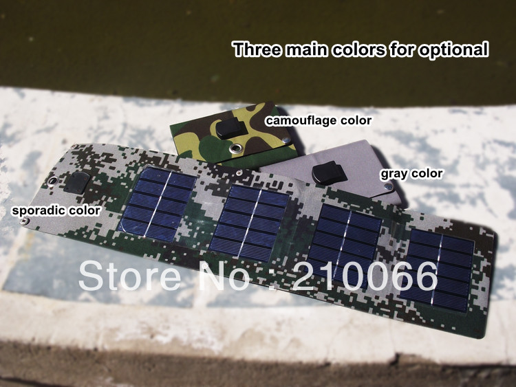 5Wwaterproof foldable solar panel charger with USB Output interface,can recharge mobile phone and digital products on the trip