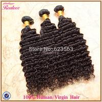 "Malaysian Virgin Hair Extension Deep Wave 3/4pc 8""-30"" Malaysian Deep Wave malaysian curly hair Human Hair Weaves realove hair"