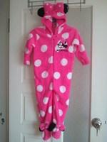 new style  minnie girl's long sleeve romper Pajamas ,coral velvet Pajamas one piece,Blanket Sleepers
