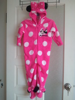 new style  minnie girl's long sleeve romper Pajamas ,coral velvet Pajamas one piece,Blanket Sleepers