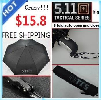 511 fully Automatic Umbrella large 3 Fold Umbrella for Rain Umbrella high quality Both Man and Women's free Shipping
