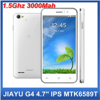 JIAYU G4 3000Mah MTK6589T Qual Core 1.5Ghz Android 4.2 mobile phone 4.7''IPS Gorilla Screen 1G+4G 6589JIAYU Android phone