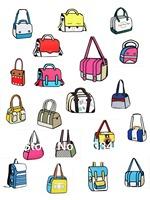 [58 stytle to choose]  Optional 20 kinds Free Shipping fashion women bags 2d bag 3d bag cartoon bag 2d carton bag schoolbag