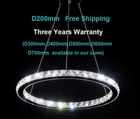 Modern LED crystal chandelier lights lamp fixture for  bedroom kitchen with D200mm 3 year warranty fast shipment