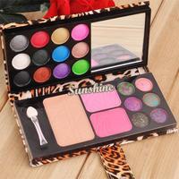 12 Color Eyeshadow Palette Glitter Professional Makeup Kit Makeup Set Cosmetic Blush Blusher Powder Palette B2 SV003816