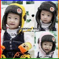 Russian baby trapper hat winter gorro bebe conjunto menino scarf set boy's earflap cap Free shipping #2C2569 retail 1 piece