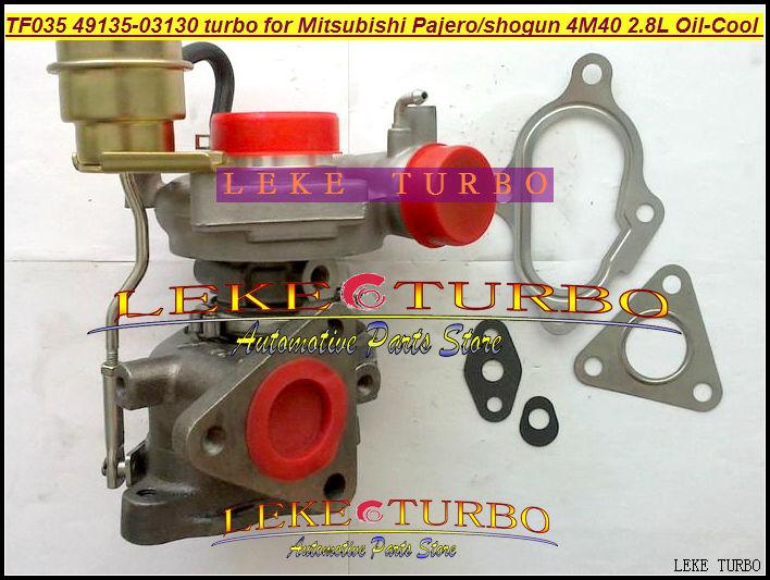 Wholesale TF035-12T-4 49135-03310 49135-03130 Oil Turbocharger For Mitsubishi Pajero Shogun Mighty Truck intercooled 4M40 2.8L D(China (Mainland))