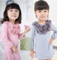 2015 new spring girls long sleeve princess dresses,1001