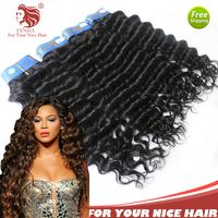 "3pcs/lot grade 6A Brazilian deep wave virgin human hair extensions natural black hair weaves 12-30"" DHL free shipping"