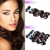 "4pcs lot queen brazilian virgin hair body wave extension natural color 1b, 3.3-3.5oz/pc free shipping, 12""-30"""