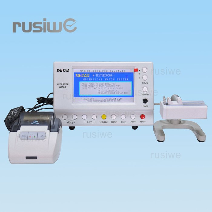 Timegrapher M-Tester 6000A Mechanical Watch Timing Machine Watch Tester & RD-TH Series Thermal Micro Printer FREE SHIPPING(China (Mainland))