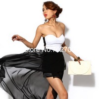 2013 New  Free Shipping fashion women on sale  Sexy Corset Chiffon Dress