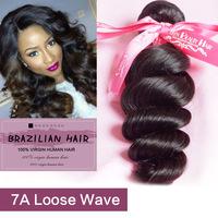 Virgin hair brazilian loose wave 3pcs lot Mixed Lenght human hair weave brazilian hair bundles for DHL free 2 day shipping